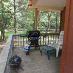 he Trout Cabin - Grill on Porch